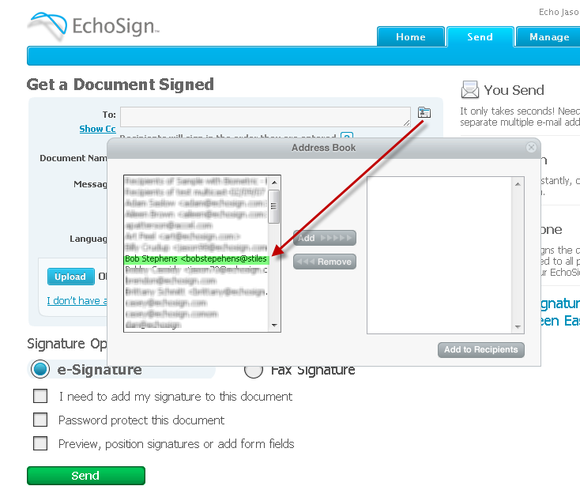 EchoSign Tips and Tricks: AutoSyncing Your Google and Gmail