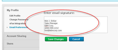 how to change your signature on yahoo